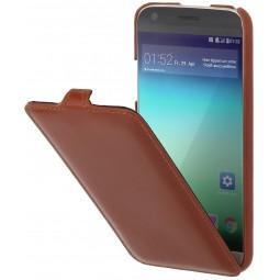 Etui LG G5 UltraSlim en cuir véritable Cognac - StilGut