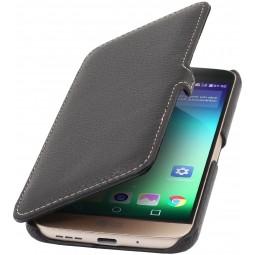 Etui Book Type LG G5 UltraSlim en cuir véritable noir - StilGut