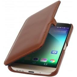 Etui Book Type LG G5 UltraSlim en cuir véritable cognac - StilGut
