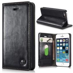 Etui iPhone SE / 5S / 5 Portefeuille Noir - CaseMe