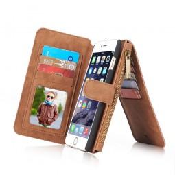 Etui iPhone 6 / 6S Porte-cartes et Porte-monnaie Marron - CaseMe