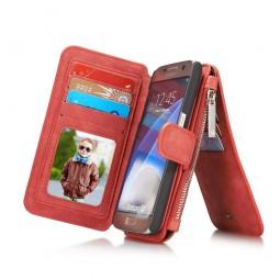 Etui Samsung Galaxy S7 Porte-cartes et Porte-monnaie Rouge - CaseMe