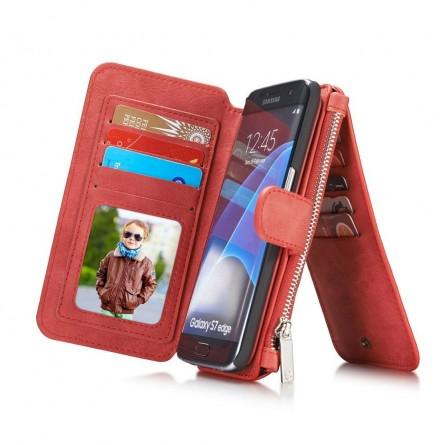 Etui Samsung Galaxy S7 Edge Porte-cartes et Porte-monnaie Rouge - CaseMe