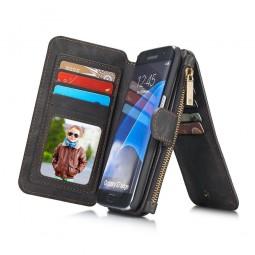 Etui Samsung Galaxy S7 Edge Porte-cartes et Porte-monnaie Noir - CaseMe