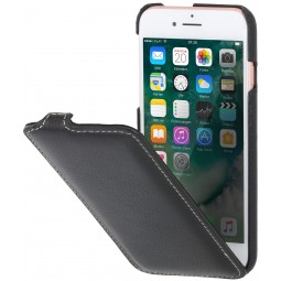 Etui iPhone 8 / iPhone 7 ultraslim en cuir véritable noir - StilGut