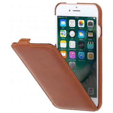 Etui iPhone 8 / iPhone 7 ultraslim en cuir véritable cognac - StilGut