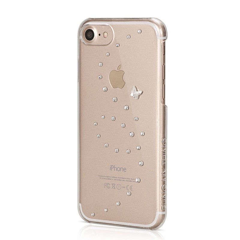 coque iphone 7 papillon pure brillance cristaux swarovski cristal bling my thing
