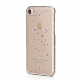 Coque iPhone 8 / iPhone 7 Papillon Rose Sparkles Cristaux Swarovski - Bling My Thing