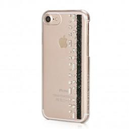 Coque iPhone 8 / iPhone 7 Hermitage Jet avec Cristaux Swarovski noir et cristal - Bling My Thing