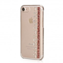 Coque iPhone 8 / iPhone 7 Hermitage Rose Gold avec Cristaux Swarovski rose et cristal - Bling My Thing