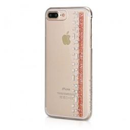 Coque iPhone 8 Plus/7 Plus Hermitage Rose Gold avec Cristaux Swarovski Rose et Cristal - Bling My Thing
