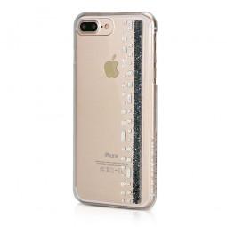 Coque iPhone 8 Plus/7 Plus Hermitage Jet avec Cristaux Swarovski Noir et Cristal - Bling My Thing