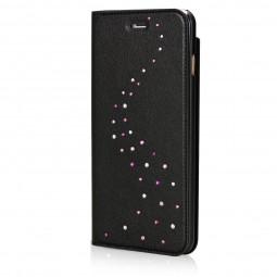 Etui iPhone 8 Plus/7 Plus en cuir véritable Primo Milky Way Rose Sparkles Cristaux Swarovski - Bling My Thing