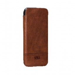 Housse iPhone 8 / iPhone 7 en cuir véritable marron - Sena Cases