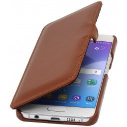 Etui Galaxy A3 (2016) Book Type en cuir véritable cognac - StilGut