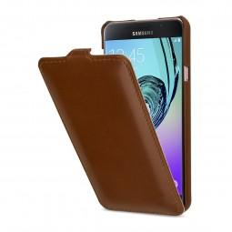 Etui Galaxy A7 (2016) UltraSlim en cuir véritable cognac - StilGut