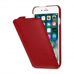 Etui iPhone 8 / iPhone 7 ultraslim en cuir véritable rouge nappa - StilGut