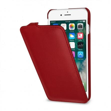 Etui iPhone 8 Plus/7 Plus ultraslim en cuir véritable Rouge Nappa - StilGut