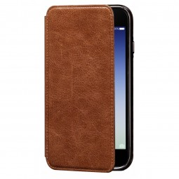 Etui iPhone 8 / iPhone 7 en cuir véritable Porte cartes marron - Sena Cases