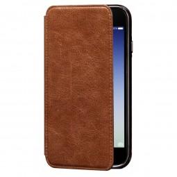 Etui iPhone 8 / iPhone 7 en cuir véritable Porte cartes marron - Sena Cases
