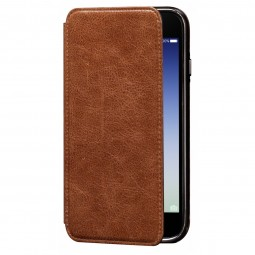 Etui iPhone 8 Plus/7 Plus en cuir véritable Porte cartes marron - Sena Cases