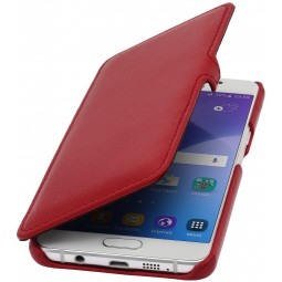 Etui Samsung Galaxy A5 (2016) Book Type en cuir véritable Nappa Rouge - StilGut