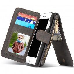 Etui iPhone 8 / iPhone 7 Porte-cartes et Porte-monnaie Noir - CaseMe