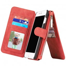 Etui iPhone 8 Plus/7 Plus Porte-cartes et Porte-monnaie Rouge - CaseMe