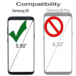 Etui Galaxy S8 UltraSlim en cuir véritable noir nappa - StilGut