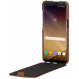 Etui Galaxy S8 UltraSlim en cuir véritable cognac - StilGut