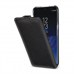 Etui Galaxy S8 Plus UltraSlim en cuir véritable noir - StilGut
