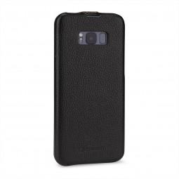 Etui Galaxy S8 Plus UltraSlim en cuir véritable noir - StilGut
