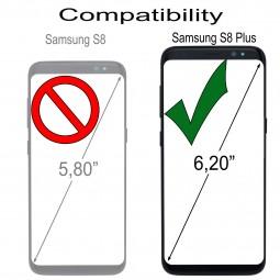 Etui Galaxy S8 Plus portefeuille Talis en cuir véritable grainé Noir - StilGut