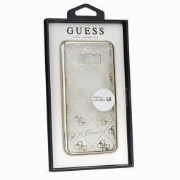 Coque Galaxy S8 Transparente et souple motifs Guess Dorés - Guess