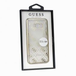 Coque Galaxy S8 Plus Transparente et souple motifs Guess Dorés - Guess