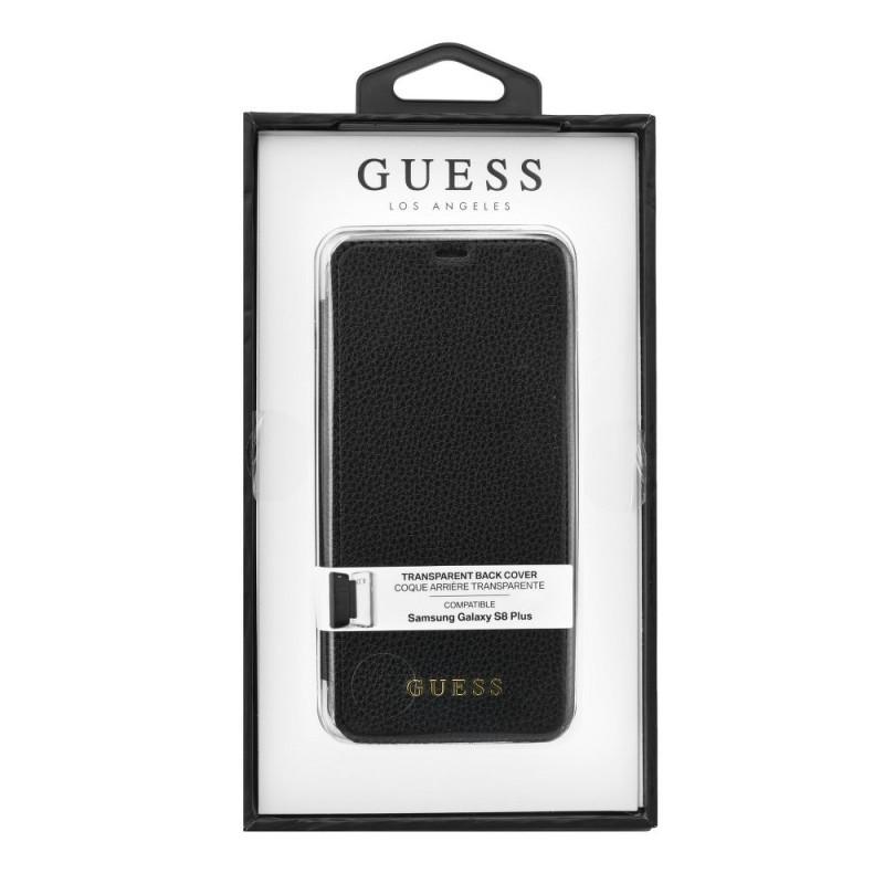 Etui Galaxy S8 Plus Coque Transparente couverture Noire - Guess