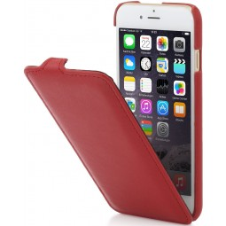 Etui iPhone 6 / 6s en cuir véritable UltraSlim rouge Nappa - StilGut