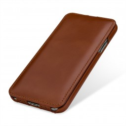 Etui iPhone X ultraslim en cuir véritable cognac - StilGut