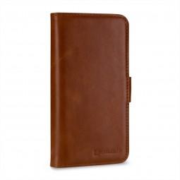 Etui iPhone X portefeuille Talis en cuir véritable Cognac - StilGut