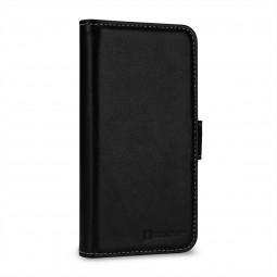 Etui iPhone X portefeuille Talis en cuir véritable Noir Nappa - StilGut