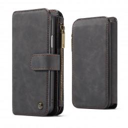 Etui iPhone X Porte-cartes et Porte-monnaie Noir - CaseMe