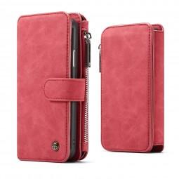 Etui iPhone X Porte-cartes et Porte-monnaie Rouge - CaseMe