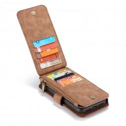Etui iPhone X Porte-cartes et Porte-monnaie Marron - CaseMe