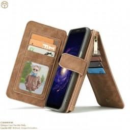 Etui Galaxy S8 Porte-cartes et Porte-monnaie Marron - CaseMe