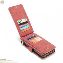 Etui Galaxy S8 Porte-cartes et Porte-monnaie Rouge - CaseMe