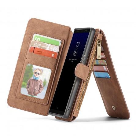 Etui Galaxy Note8 Porte-cartes et Porte-monnaie Marron - CaseMe