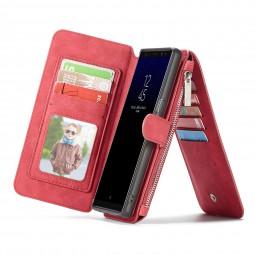 Etui Galaxy Note8 Porte-cartes et Porte-monnaie Rouge - CaseMe