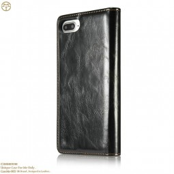 Etui iPhone 8 Plus / 7 Plus Portefeuille Noir - CaseMe