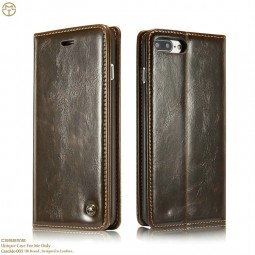 Etui iPhone 8 Plus / 7 Plus Portefeuille Marron - CaseMe