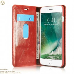 Etui iPhone 8 Plus / 7 Plus Portefeuille Rouge - CaseMe